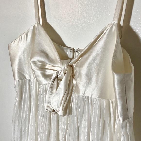 BCBGMaxAzria Dresses   Cream White Short Dress Prom Wedding   Poshmark
